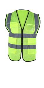 hi vis vest for men yellow