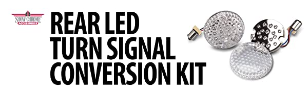 Show Chrome Accessories (10-1604) Rear LED Turn Signal Conversion Kit