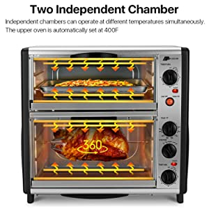 Oven with Toast & Rotisserie boasts full-size oven performance in a compact, energy-efficient form