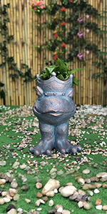 frog head planter