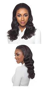 body wave half wig