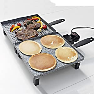 atgrills electric griddle and grill combo