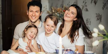 Happy, strong, and healthy family after they receive their Vitamin C