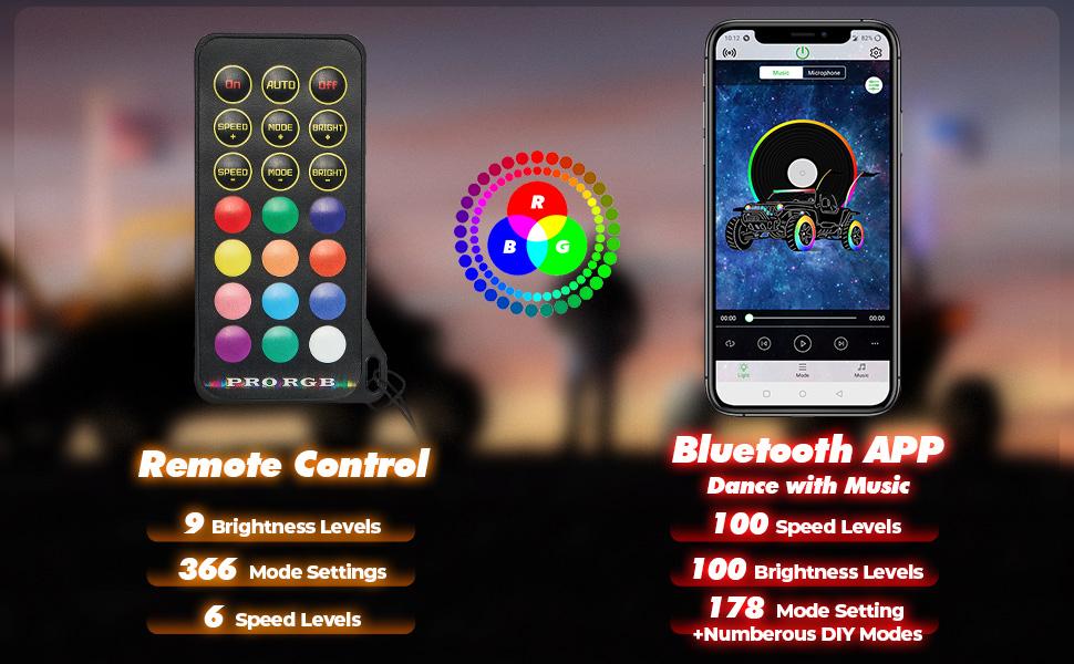 Bluetooth Whip Light