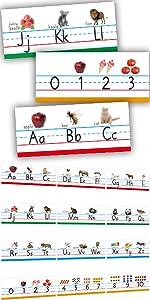 12 Pcs Alphabet Cards for Bulletin Board