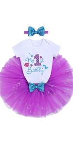 Mermaid 1st Birthday Outfit Little Girls Cake Smash Mermaid Theme Birthday Party Supply