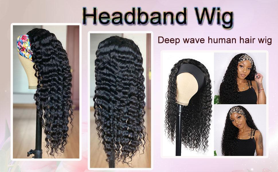 headband wig human hair wigs