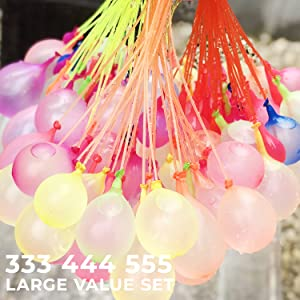 333/444/555 mixed color water balloons large value sets available!
