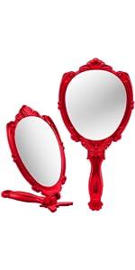 Decorative Folding Handheld Mirror