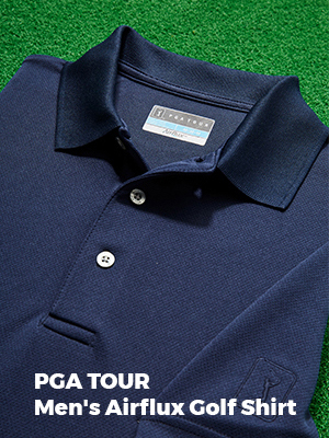 pga tour mens airflux golf shirt