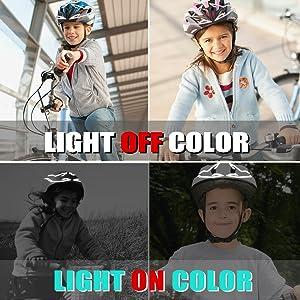 helmet flash strobe lights warning signal strip helmet strip lights
