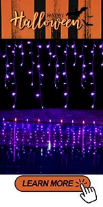 Outdoor Purple Iciclelights