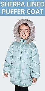 fur hood puffer winter coat