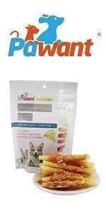 Chicken Wrapped Cod Sticks for Puppy Training Snacks Dog Chews Treats Rawhide Free