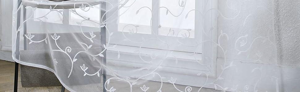 Sheer Window Valance Curtains
