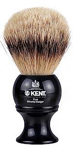 KENT BLK8 Pure Silvertip Badger Shaving Brush