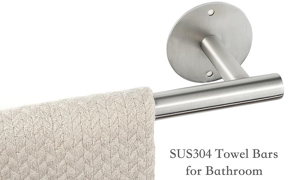 towel bars for bathroom brushed nickel