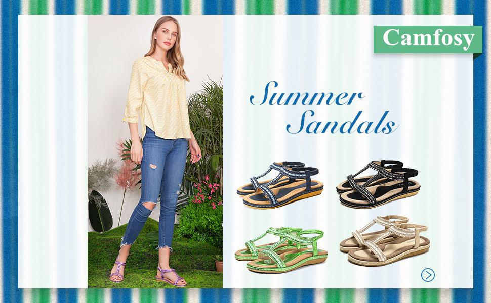 platta sandaler damer sommar fritid tåseparator