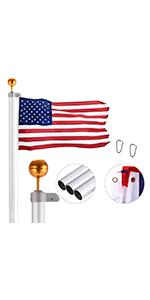 20FT Sectional Flag Pole Kit