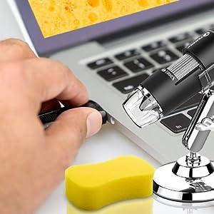 Wireless Digital Microscope Handheld Compatible with Mac, Windows Computer