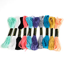 10 different colors of thread