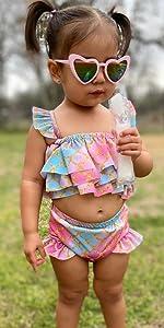 baby girls mermaid bathing suits bikini