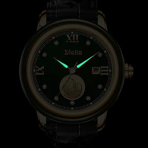 Date Window Display Luminous Watch