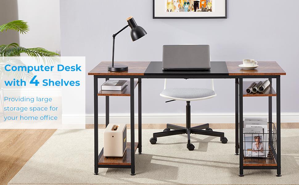 55 inches computer desk