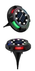 solar disk lights solar ground lights colorful multi color
