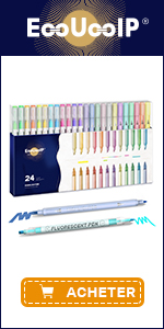 EooUooIP 24 Colors Pastel Highlighters Pen