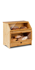Double Layer Bread Box with Drawer