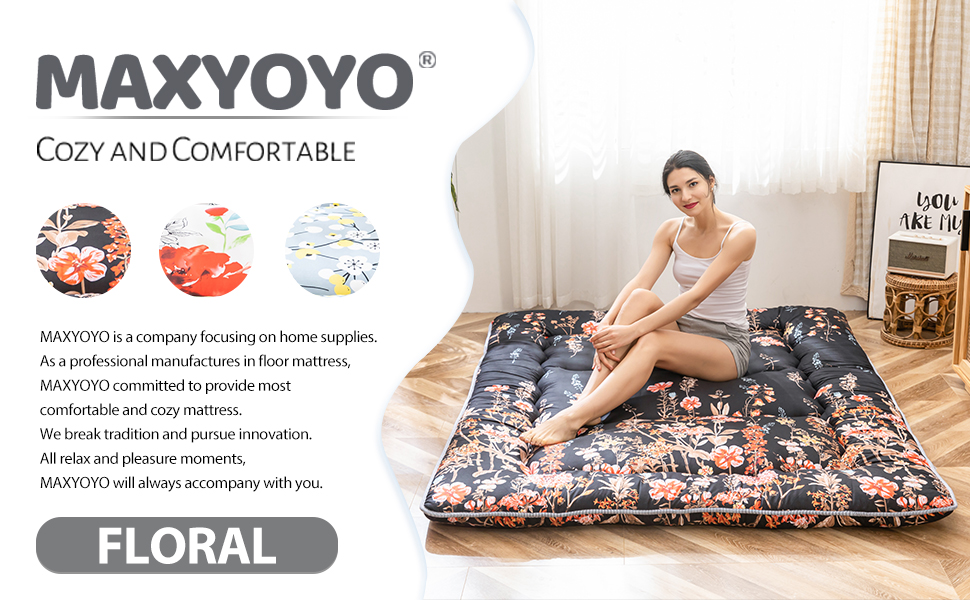 Floal Japanese Futon Floor Mattress with Cover