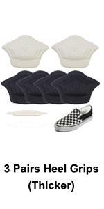 3 pairs thicker heel grips
