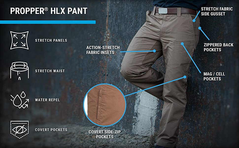 propper hlx pant, chino, tactical, stretch, utility