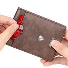 slim minimalist RFID wallet can push easy to carry