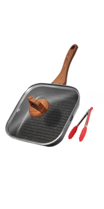 9.5/11 Inch Grill Pan with Lid