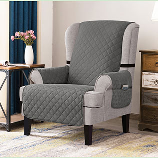 Reversible Wing Chair Covers