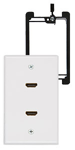 dual hdmi wall plate with bracket
