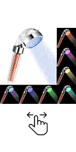 LED Shower Head with Handheld, 7 Color Changing High Pressure Showerhead