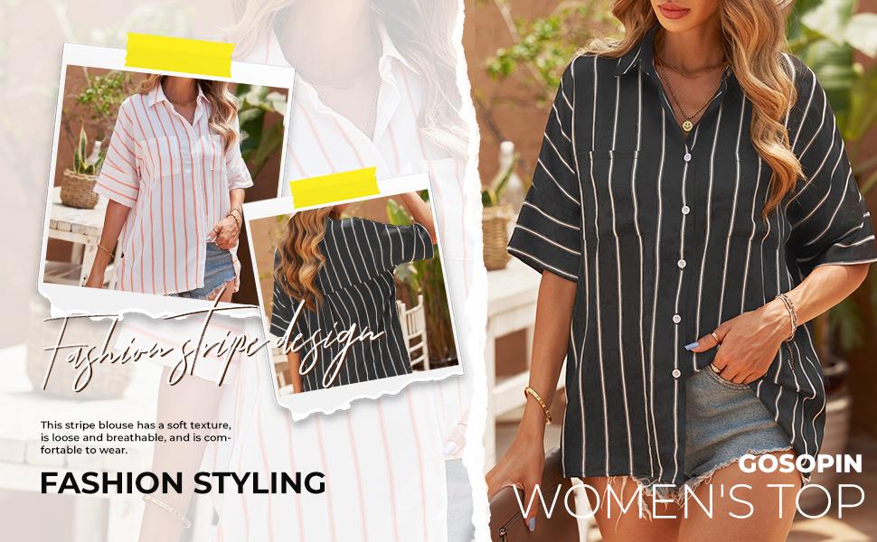 Womens Corduroy Button Down Shirts Boyfriend Long Sleeve Oversized Blouses Tops