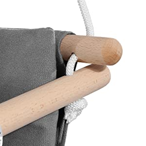 Mlian Secure Canvas and Wooden Baby Hanging Swing Seat Chair