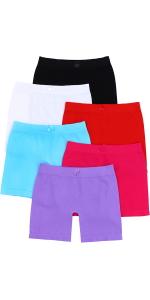 girls pack of six layering shorts boyshorts