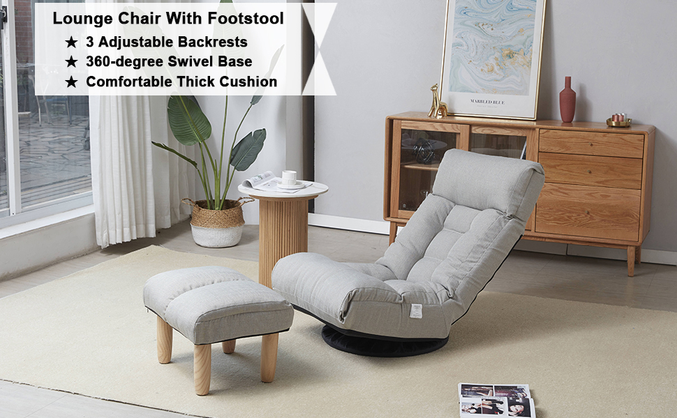 Floor gaming chair for living room or bedroom