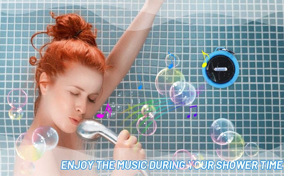 Enjoy the music during your shower time