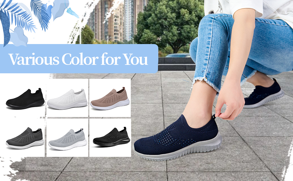 various colors for women walking shoes