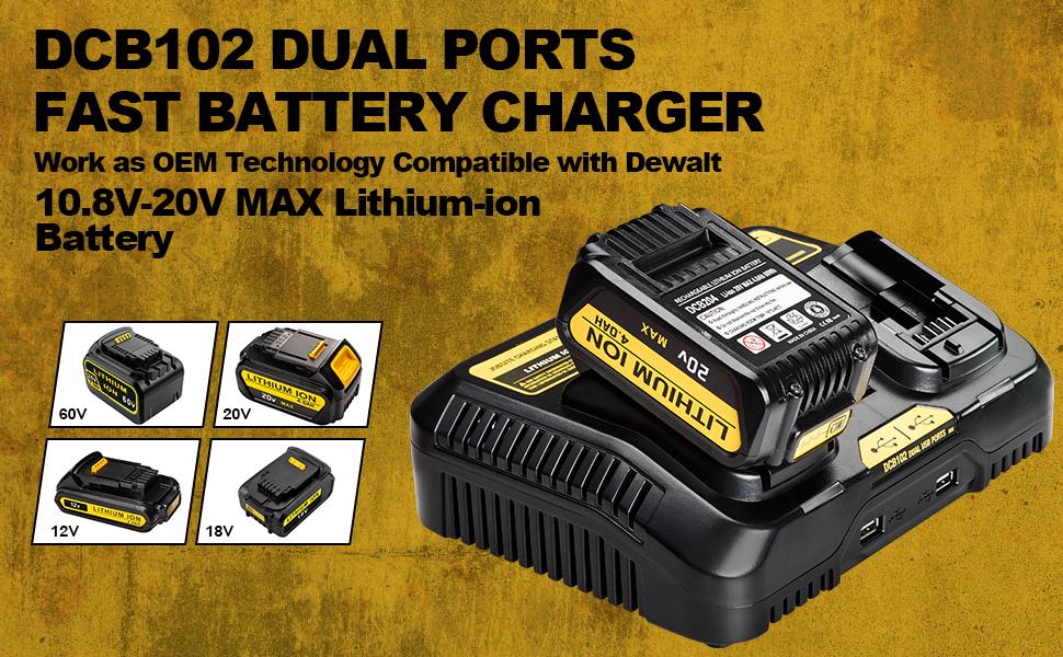 DCB102BP battery charger for dewalt