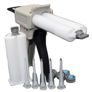 Bigbong 50ml 1:1/2:1 Dispensing Gun + Static Mixing Nozzle +  50ml Epoxy Glue Cartridges Empty