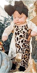 toddler baby girl leopard romper