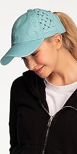 Weave criss-cross hat