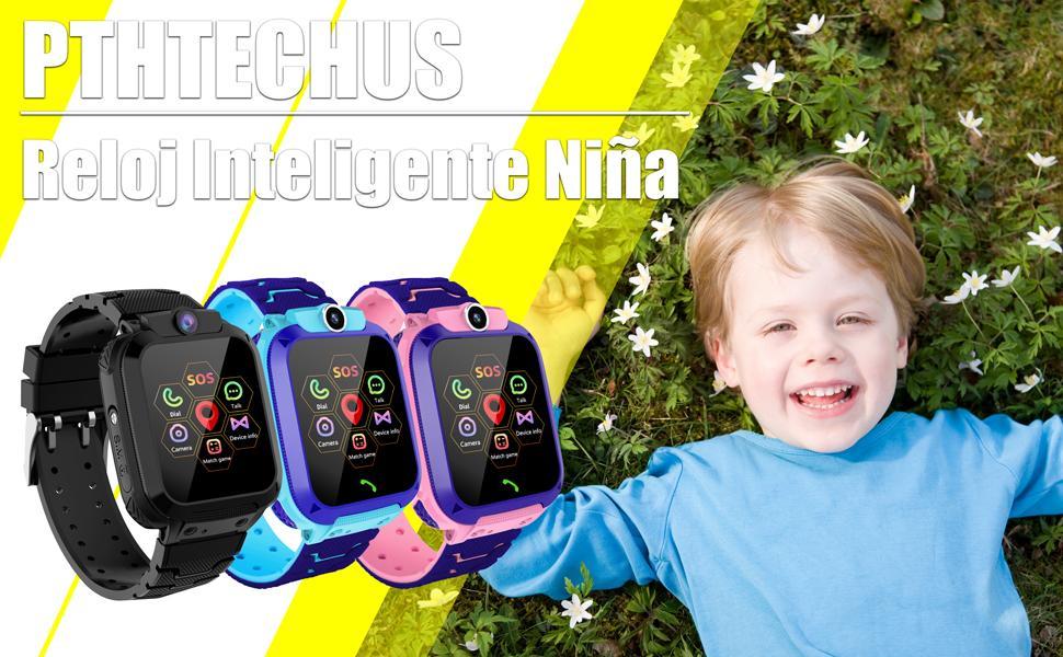Niños GPS Smartwatch niños niñas regalo para cumpleaños Smart Watch teléfono GPS Tracker SOS